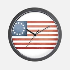 Colonial Flag Wall Clock