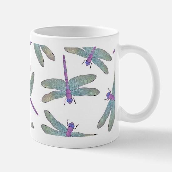 Watercolor Dragonfly Pattern Mugs
