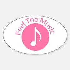 Pink / Feel the Music Oval Decal