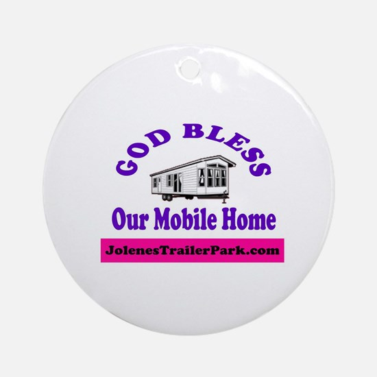 God Bless Mobile Home Ornament (Round)