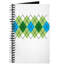 Green and Blue Argyle Journal