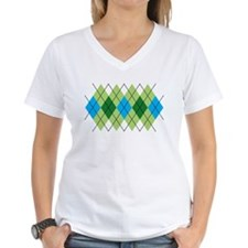 Green and Blue Argyle Shirt