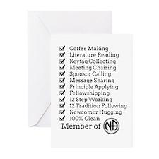 Member Of Na Greeting Cards