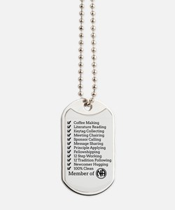 Member Of Na Dog Tags