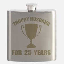 Trophy Husband For 25 Years Flask