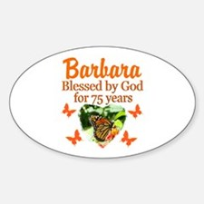 JOYOUS 75TH Sticker (Oval)
