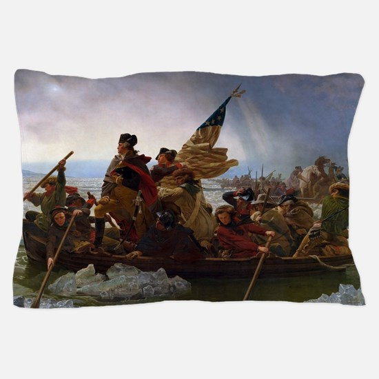 Washington Crossing the Delaware Pillow Case