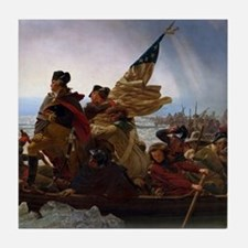 Washington Crossing the Delaware Tile Coaster