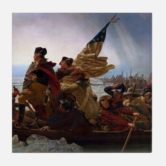 Washington Crossing the Delaware Tile Coaster