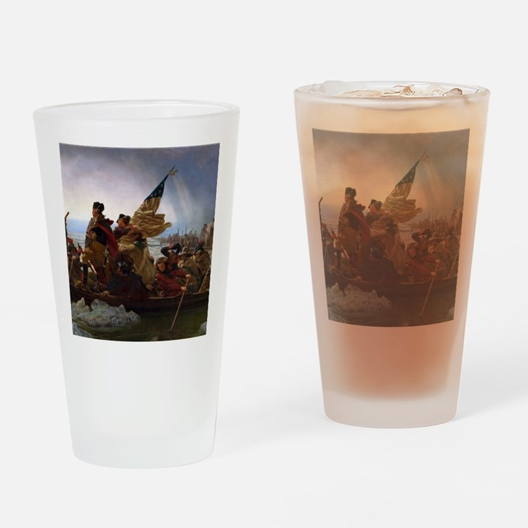 Washington Crossing the Delaware Drinking Glass