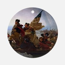 Washington Crossing the Delaware Ornament (Round)