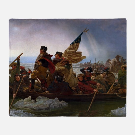 Washington Crossing the Delaware Throw Blanket