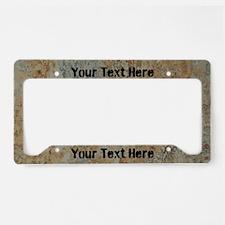 Custom Rust License Plate Holder