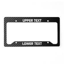 Custom Carbon Fiber License Plate Holder