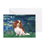 Lily Pond (#5) / Cavalier Greeting Card