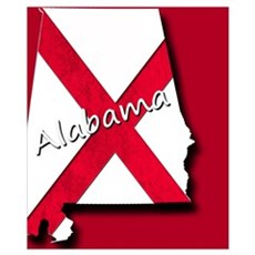 Alabama state flag Poster