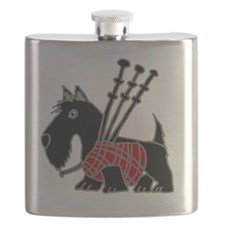 Funny Scotty Playing Bagpipes Flask