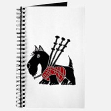 Funny Scotty Playing Bagpipes Journal