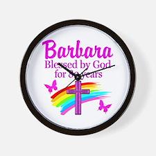 LOVELY 80TH Wall Clock