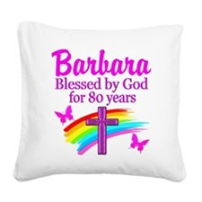 LOVELY 80TH Square Canvas Pillow