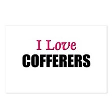 I Love COFFERERS Postcards (Package of 8)