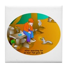 Geocaching Blues Tile Coaster