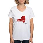 Upstate New York Women's V-Neck T-Shirt