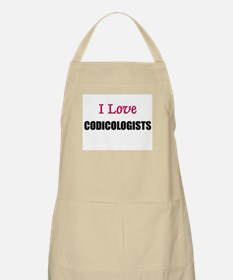 I Love CODICOLOGISTS BBQ Apron