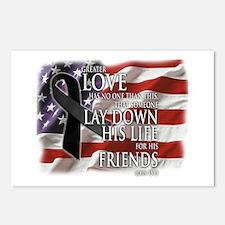 Black Ribbon Friend Memorial Postcards (Package of