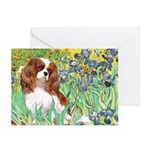 Irises & Cavalier Greeting Cards (Pk of 20)
