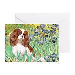 Irises & Cavalier Greeting Card