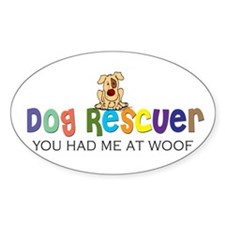 Dog Rescuer Oval Decal