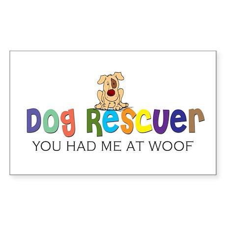 Dog Rescuer Rectangle Sticker