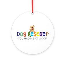 Dog Rescuer Ornament (Round)
