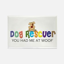 Dog Rescuer Rectangle Magnet