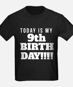 Today Is My 9th Birthday T-Shirt
