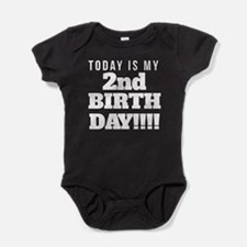 Today Is My 2nd Birthday Baby Bodysuit