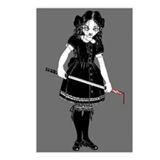 Scary Girl With Sword Postcards (Package of 8)
