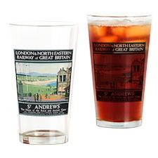 St. Andrews Vintage Golf Poster Drinking Glass