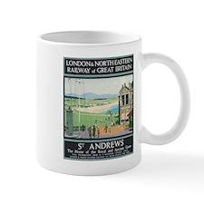 St. Andrews Vintage Golf Poster Mugs