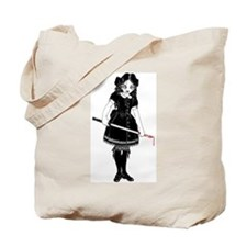 Scary Girl With Sword Tote Bag