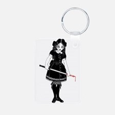Scary Girl With Sword Keychains
