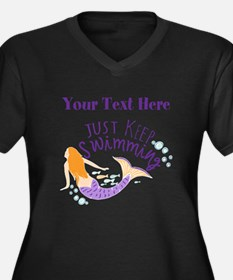 Just Keep Swimming Mermaid Plus Size T-Shirt