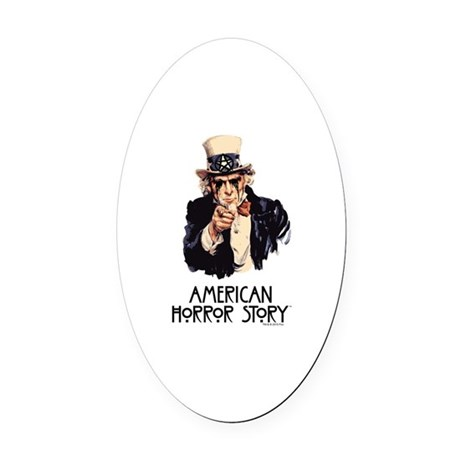 American Horror Story Uncle Sam Oval Car Magnet by