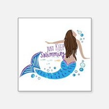 Just Keep Swimming Mermaid Sticker