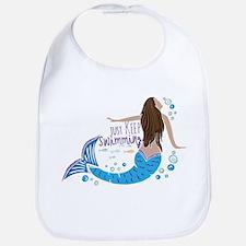 Just Keep Swimming Mermaid Bib