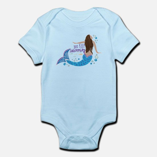 Just Keep Swimming Mermaid Body Suit