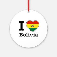 I love Bolivia Ornament (Round)