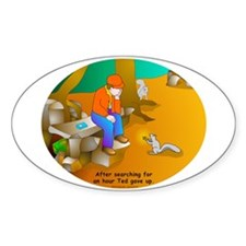 Geocaching Blues Oval Decal