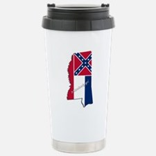 Mississippi State and F Stainless Steel Travel Mug